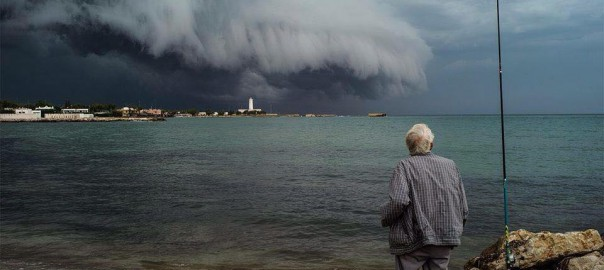 Shelf cloud San Cataldo