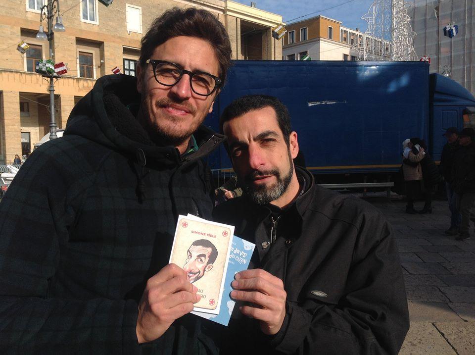 Pif a Lecce con Simone Mele (foto: pagina Facebook Simone Mele)