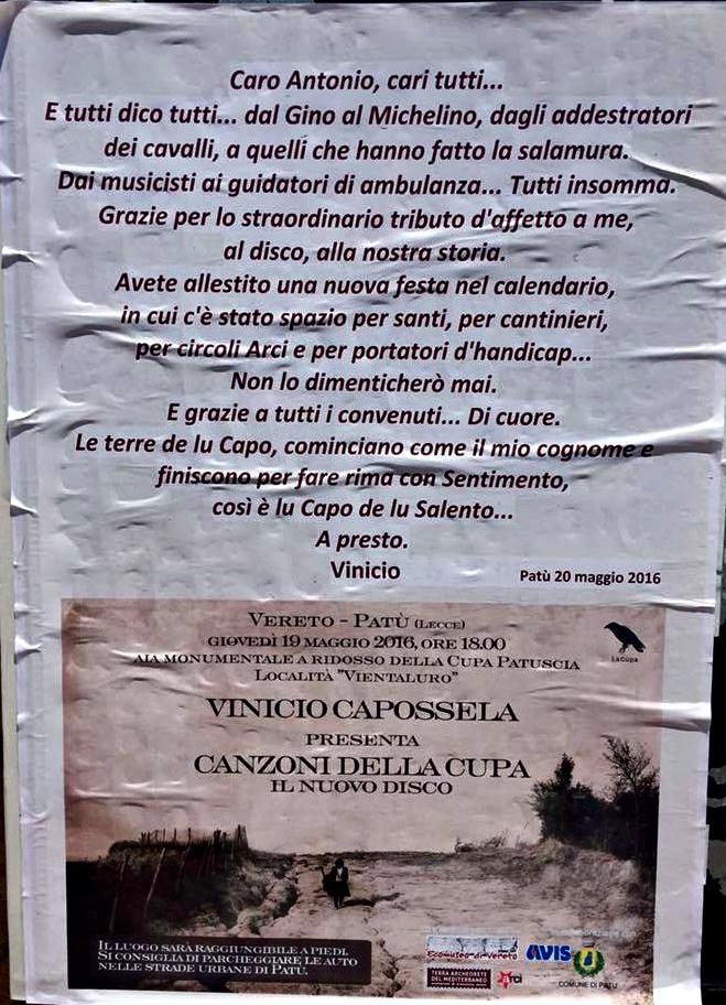 manifesto Capossela Patu